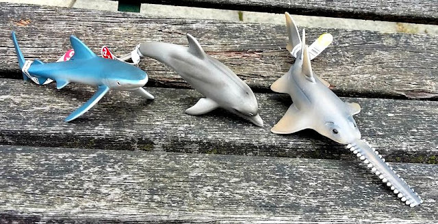 Schleich Ocean Creatures Set Shark, Dolphin and Sawfish