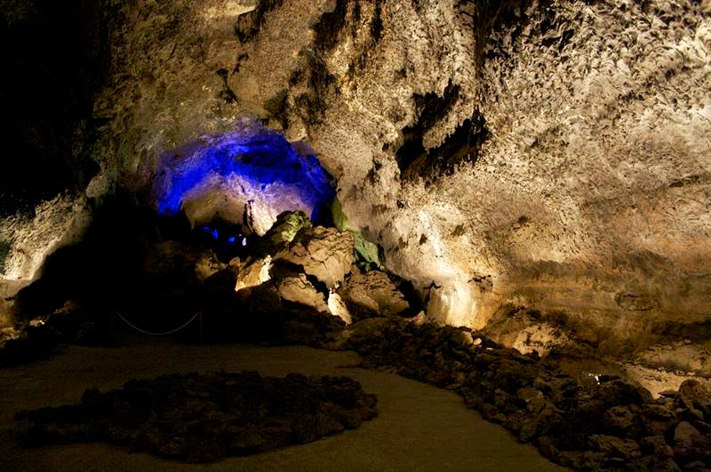 Cueva de los Verdes is not only one of the most interesting volcanic formations on the island, but is also one of the longest volcanic tube in the world of 6 km long. The municipality of Haría on the island of Lanzarote in the Canary Islands, Spain.
