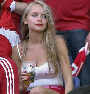 Denmark girls fans Euro 2012