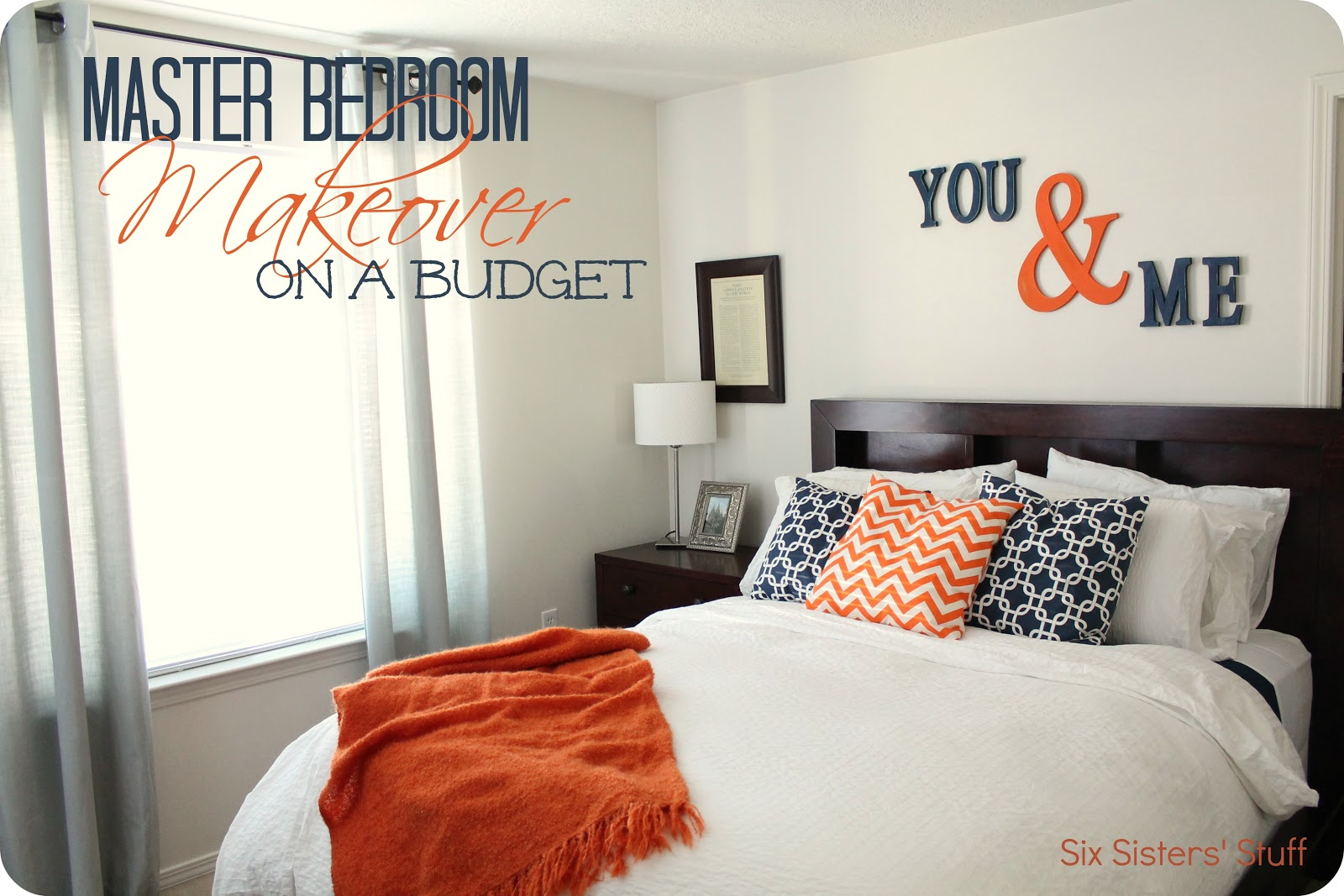 Master bedroom makeover on a budget six sisters 39 stuff How to redo a bedroom cheap