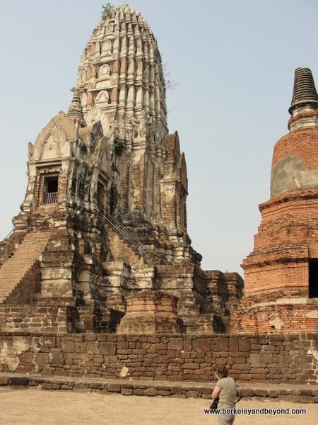 Wat Rajburana stupa at Ayutthaya Historical Park in Thailand
