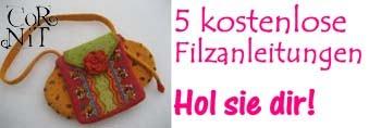Kostenloser online Filzkurs mit 5 Filzanleitungen
