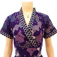 DB2899 - Mode Baju Dress Batik Modern Terbaru 2013
