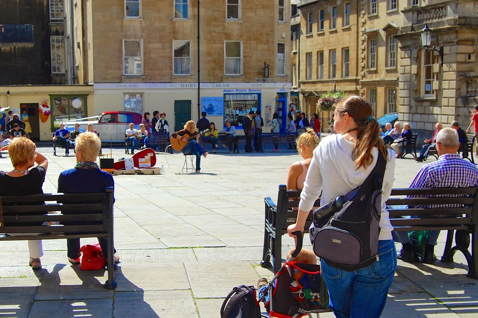 Street busker in Bath