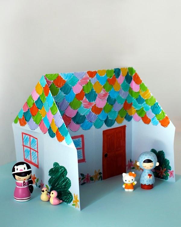 Paper toys la casetta pi semplice da costruire creare for Disegni casa a prezzi accessibili da costruire