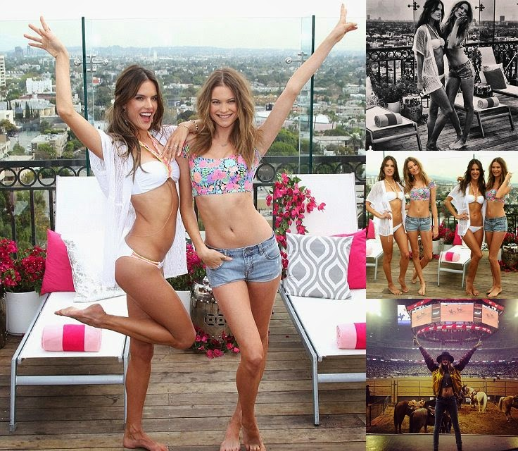 Behati Prinsloo and Alessandra Ambrosio‭ ‬-‭ ‬Bikini in West Hollywood