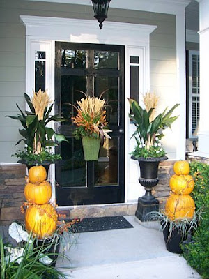 fall decorating, fall outdoor decorating