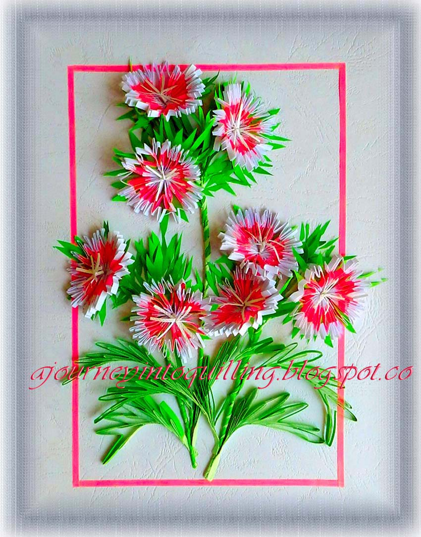 A journey into quilling paper crafting quilled 3d flower frame quilled 3d flower frame sweet william mightylinksfo