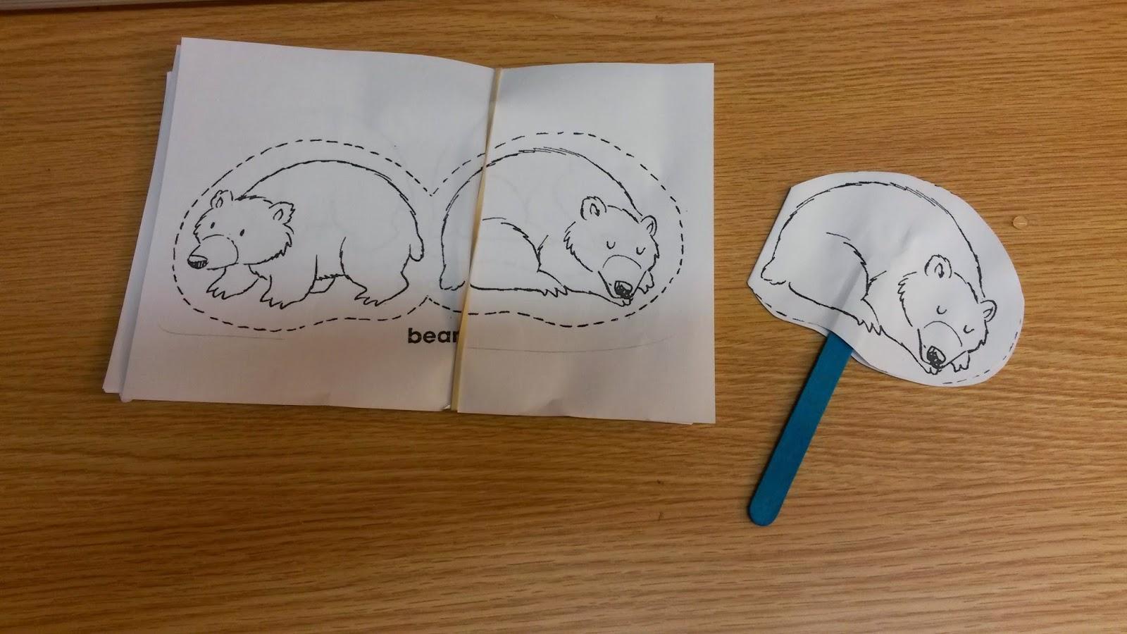 Bear hibernation worksheets kindergarten 1000 images for Hibernation crafts for kids