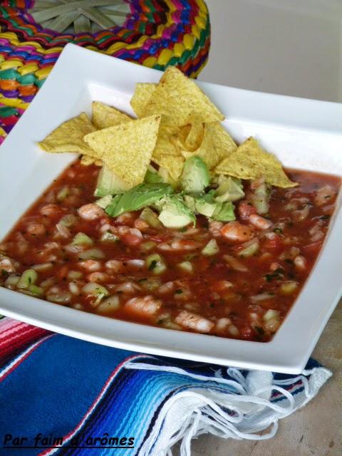 Ceviche mexicain