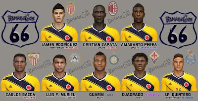 PES 2014 Colombian Facepack No. 2 by DamageCase66