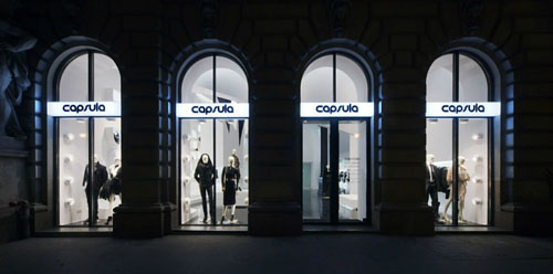Capsula the Elegant Fashion Store Design shopfront