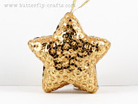Handmade Gold Star Christmas Tree Decoration