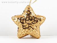 Handmade Gold Star Christmas Tree Decoration