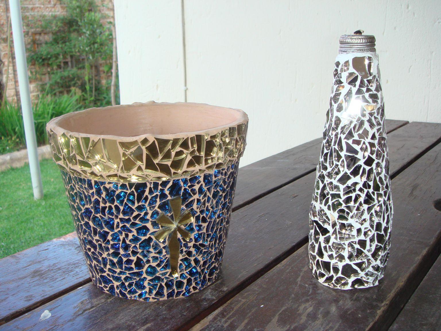 Mosaic Flower Pots.