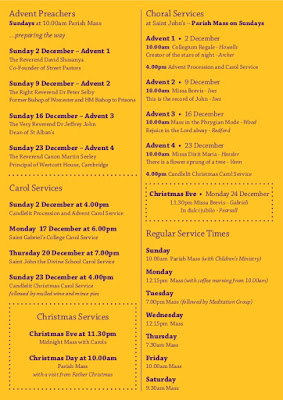 Advent and Christmas Service details at St John the Divine SW9 on vassallview.com