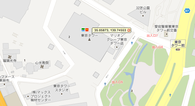 緯度経度ツールチップの使い方 マウス カーソルが示す位置の緯度と経度を...  Google マ