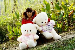 Boneka beruang love 7