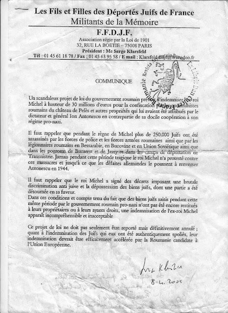 Retrocedari : a fost  Hanna Rabinsohn nazista ?! Dar Silviu Brucan?! Klarsfeld+contra+Mihai+Rex+indemnisations