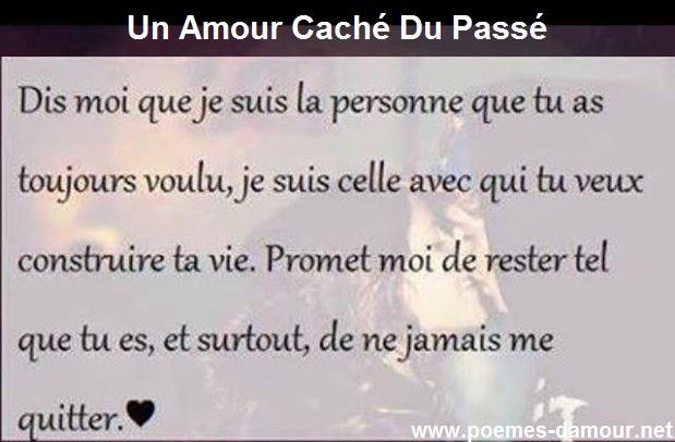 Magnifique Poème d'amour comme toujours sous le titre de Un Amour Caché Du Passé.