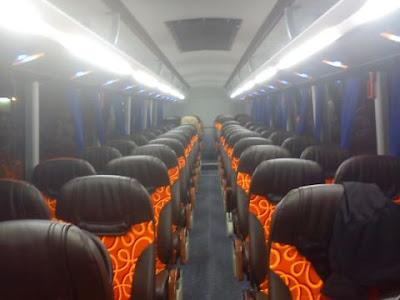 Interior Skybus Gemilang Nusantara