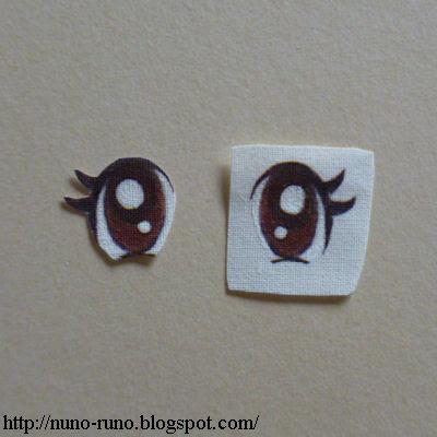 Printed eyes
