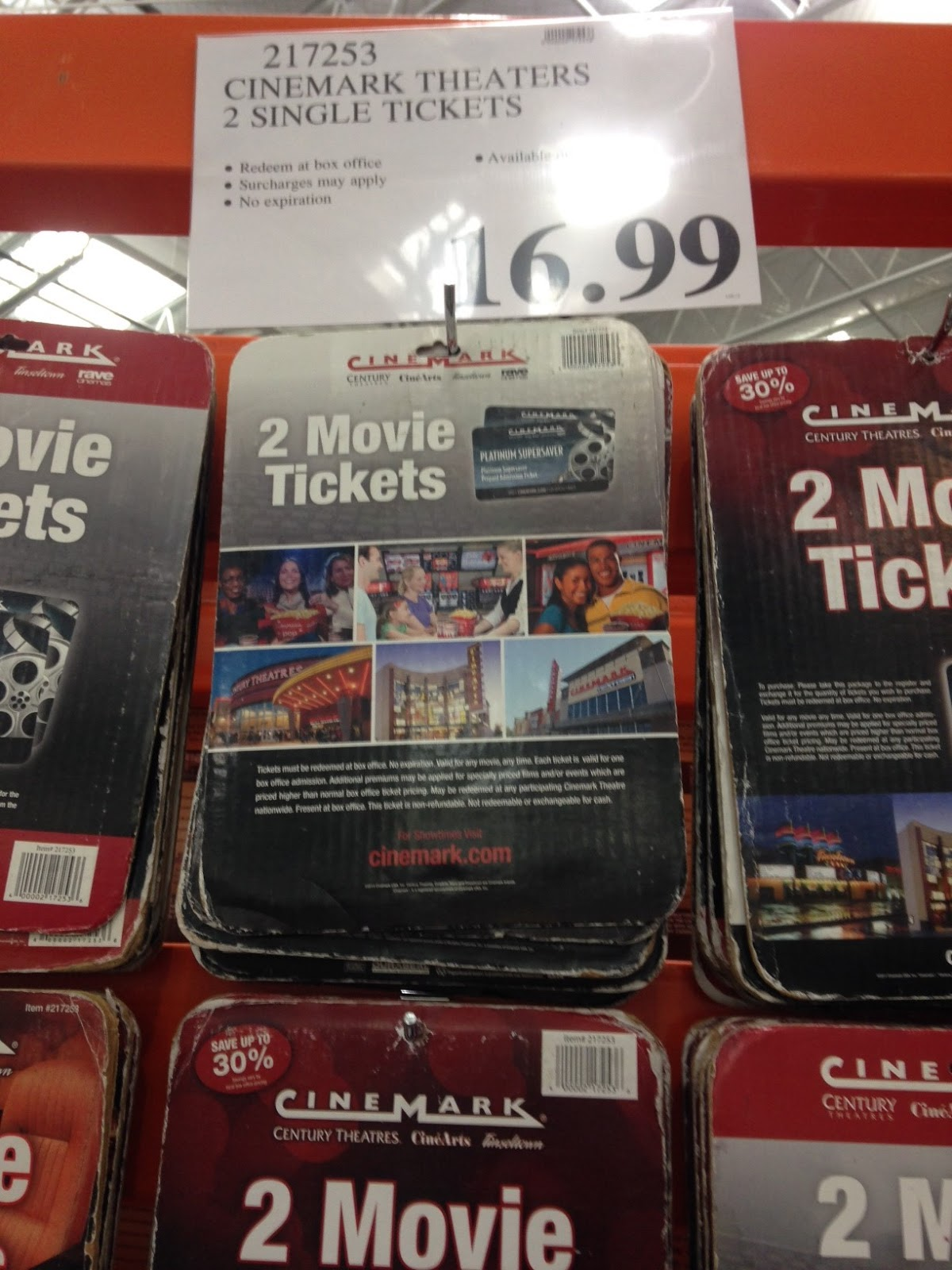 Cinemark Theaters Movie Tickets (qty 2) | Costco Weekender
