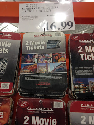 Go to the movies and save when you buy 2 Cinemark Movie Tickets at Costco