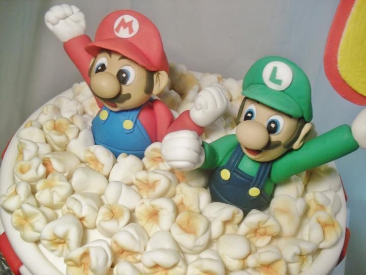Made Fresh Daily Super Mario Bros Popcorn Bucket Birthday Cake