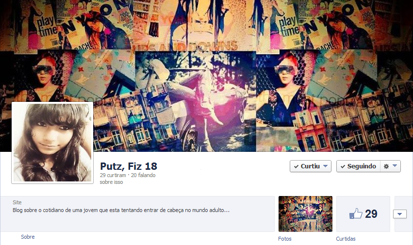 fan page do blog Putz, fiz 18