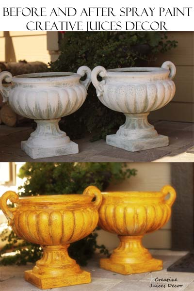Easy Steps to spray paint and glaze outdoor planters - then use as holiday decor.  Pumpkin holder or small christmas tree holder