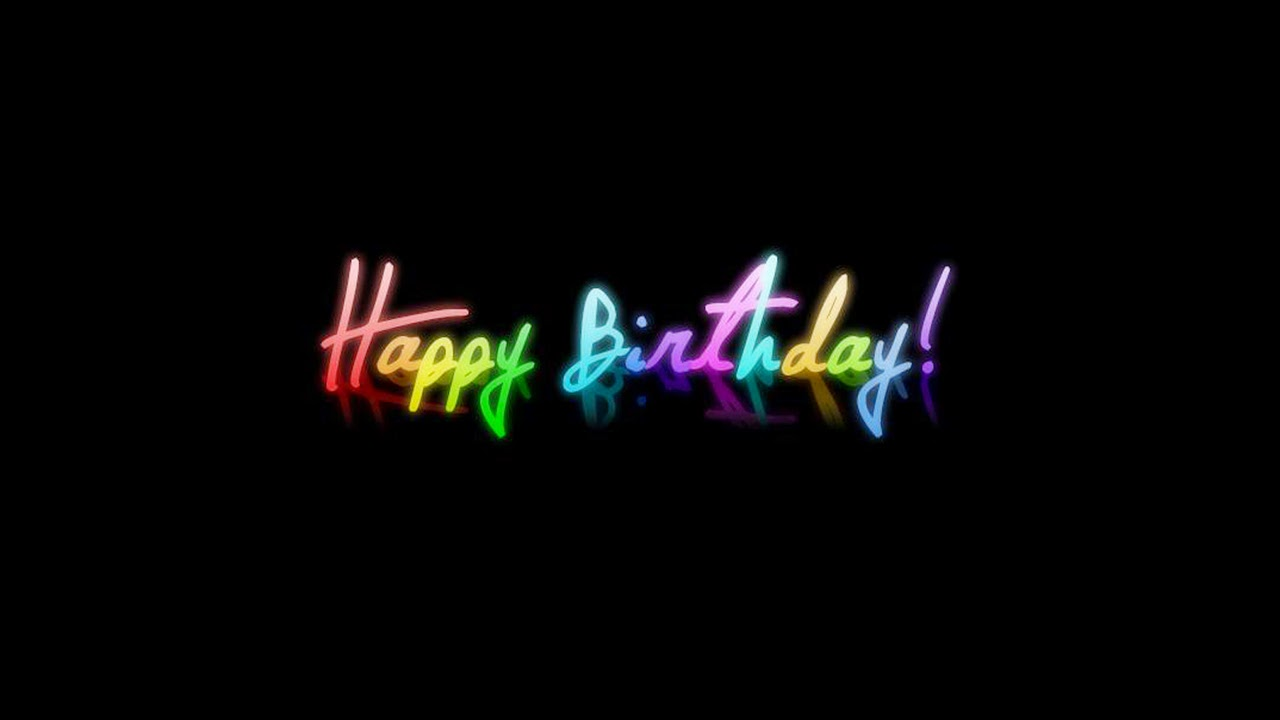 Happy birthday wishes in dark light