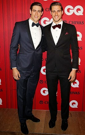 Zac Jordan Stenmark – GQ Man Of The Year –  Velvet bow ties.