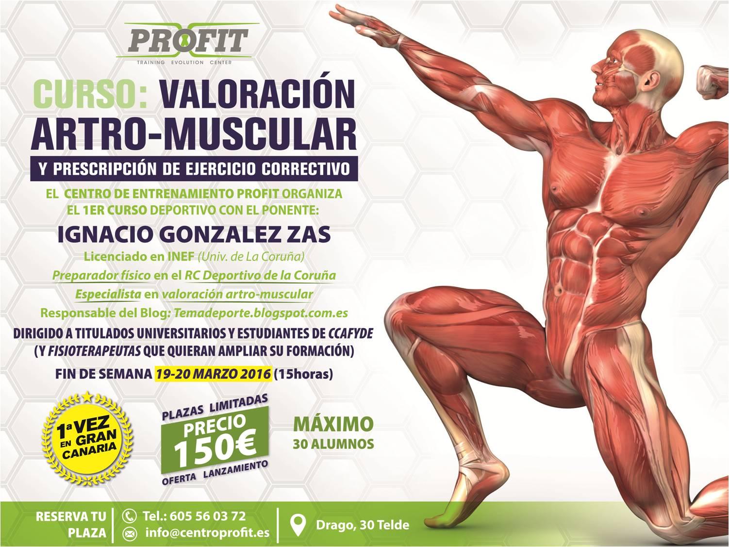 Valoración artro-muscular en Las Palmas, 19-20 de marzo