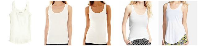 H&M Ribbed Tank Top $4.00 (regular $7.95)  St. John's Bay Essential Tank Top $5.99 (regular $12.00)  Stylus Ribbed Tank Top $6.99 (regular $14.00)  Old Navy Jersey Stretch Tami $7.00 (regular $10.00)  Leith Knit Racerback Tank $17.42 (regular $26.00)