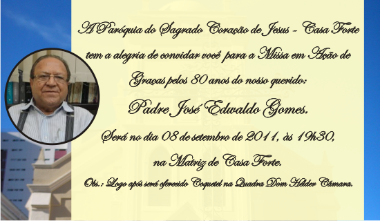 Escola Da Fé Casa Forte Convite