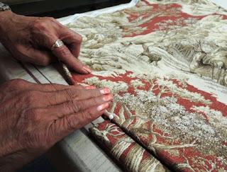custom workroom, artisan hands, Wesco Fabrics
