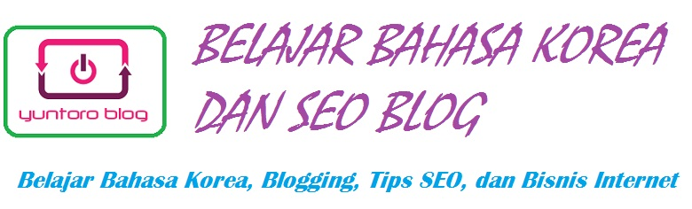 Belajar Bahasa Korea dan SEO Blog