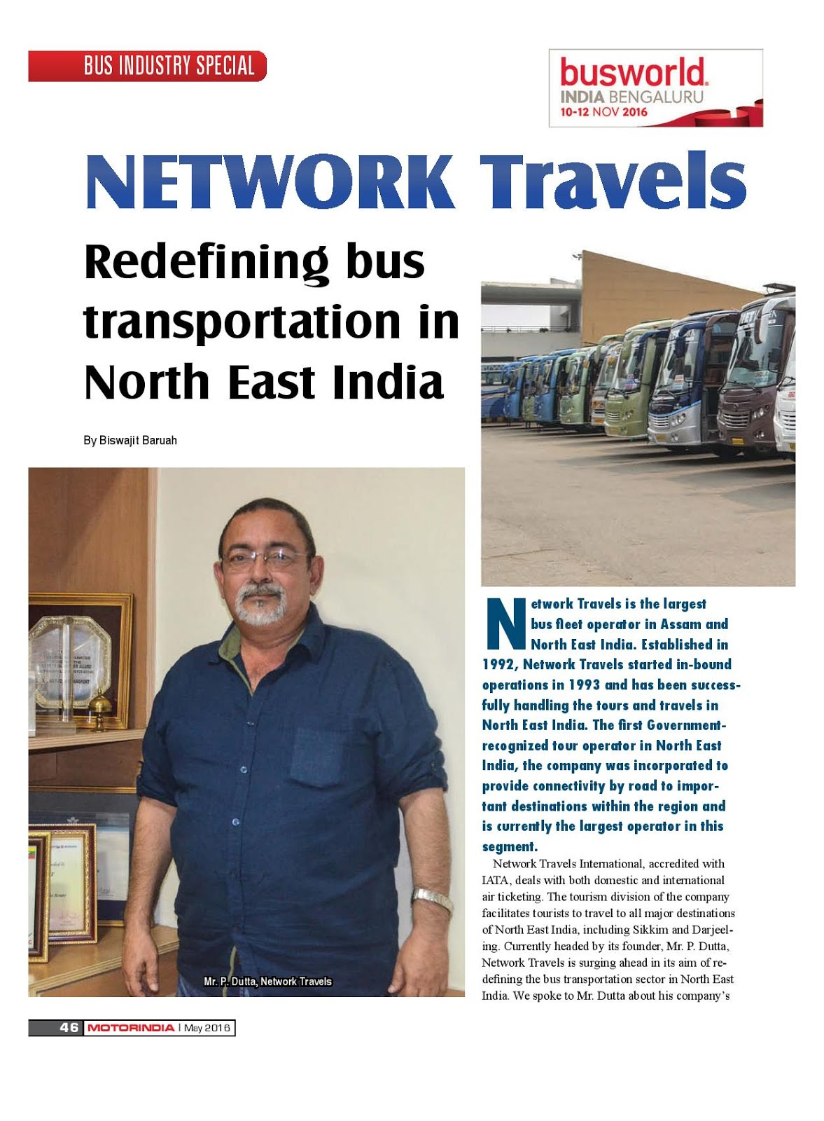 MOTOR INDIA ARTICLE 3 : NETWORK TRAVELS