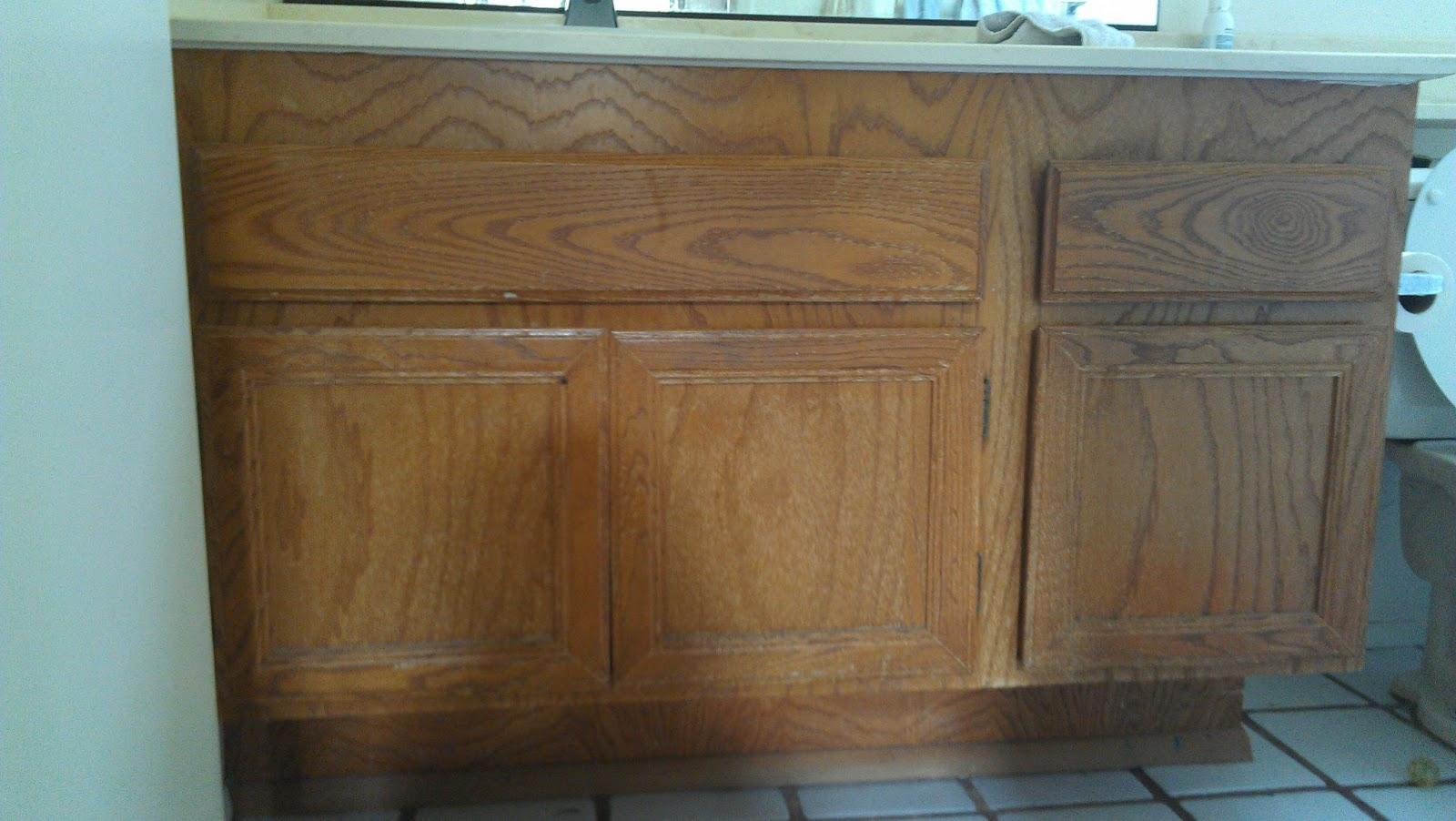 staining bathroom cabinets nana next door