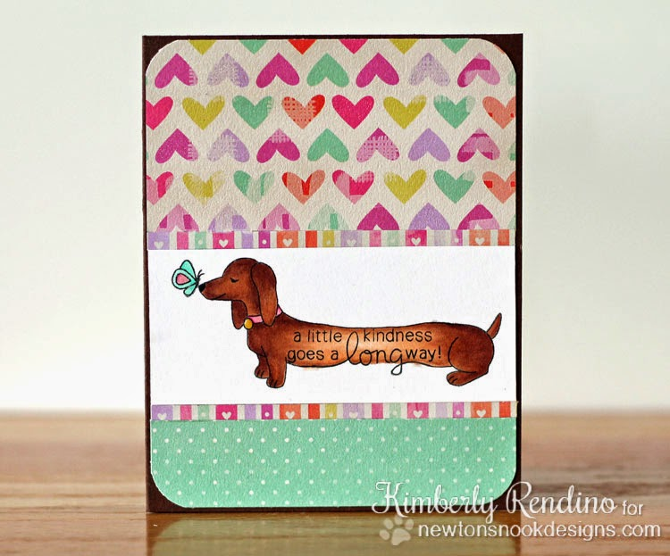 Delightful Doxies card by Kimberly Rendino for Newton's Nook Designs | doxies | kimpletekreativity.blogspot.com