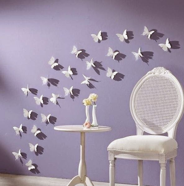 Awesome Butterfly Wall Decoration | Butterfly Themes For Interior Walls