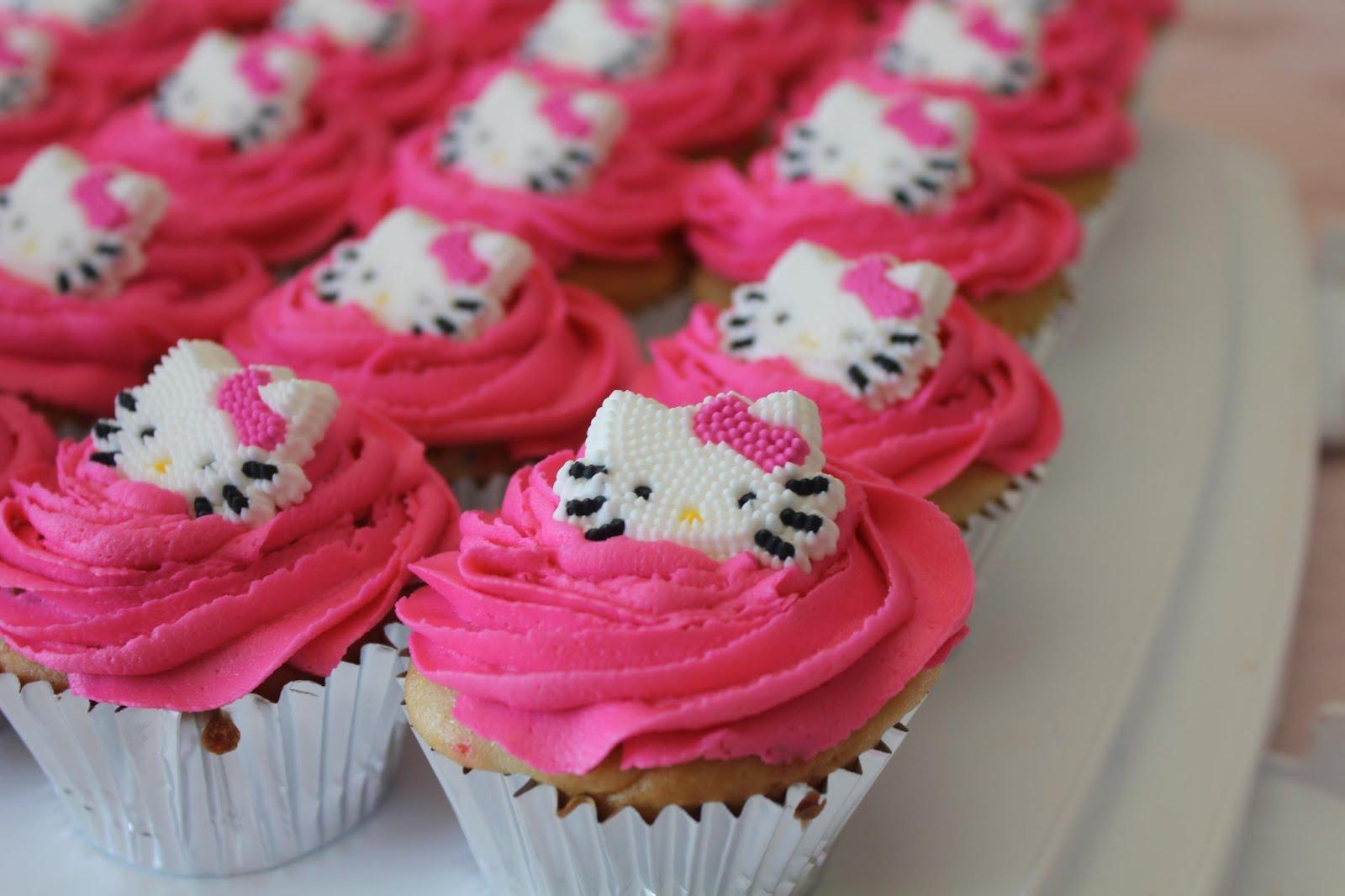 Homemade Hello Kitty Cupcakes