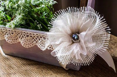 gunadesign, guna andersone, Rustic French shabby chic wedding flower girl basket