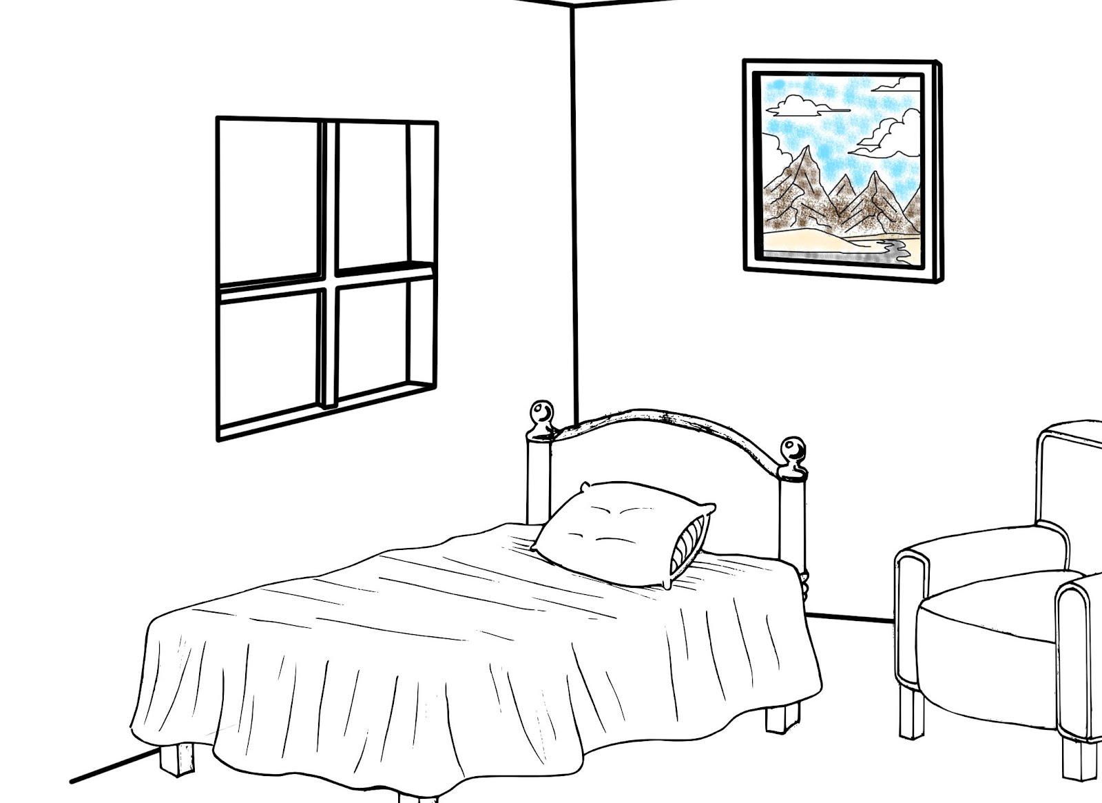 dibujos colorear habitaciones casa ideas creativas sobre