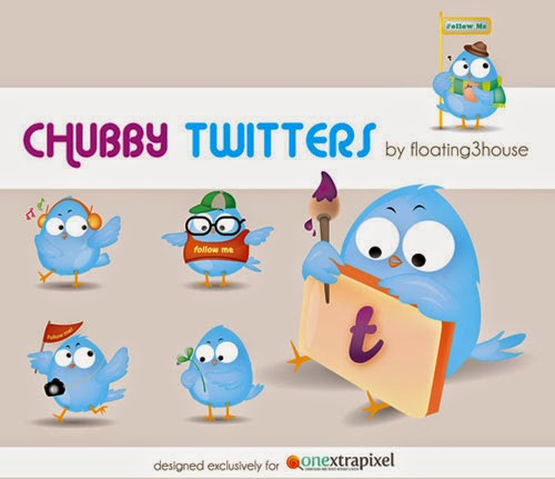 Free Chubby Twitter Icon Set