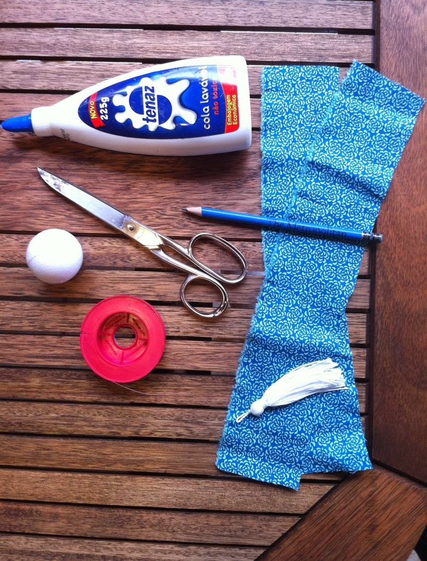 Chaveiro de tecido | Materiais