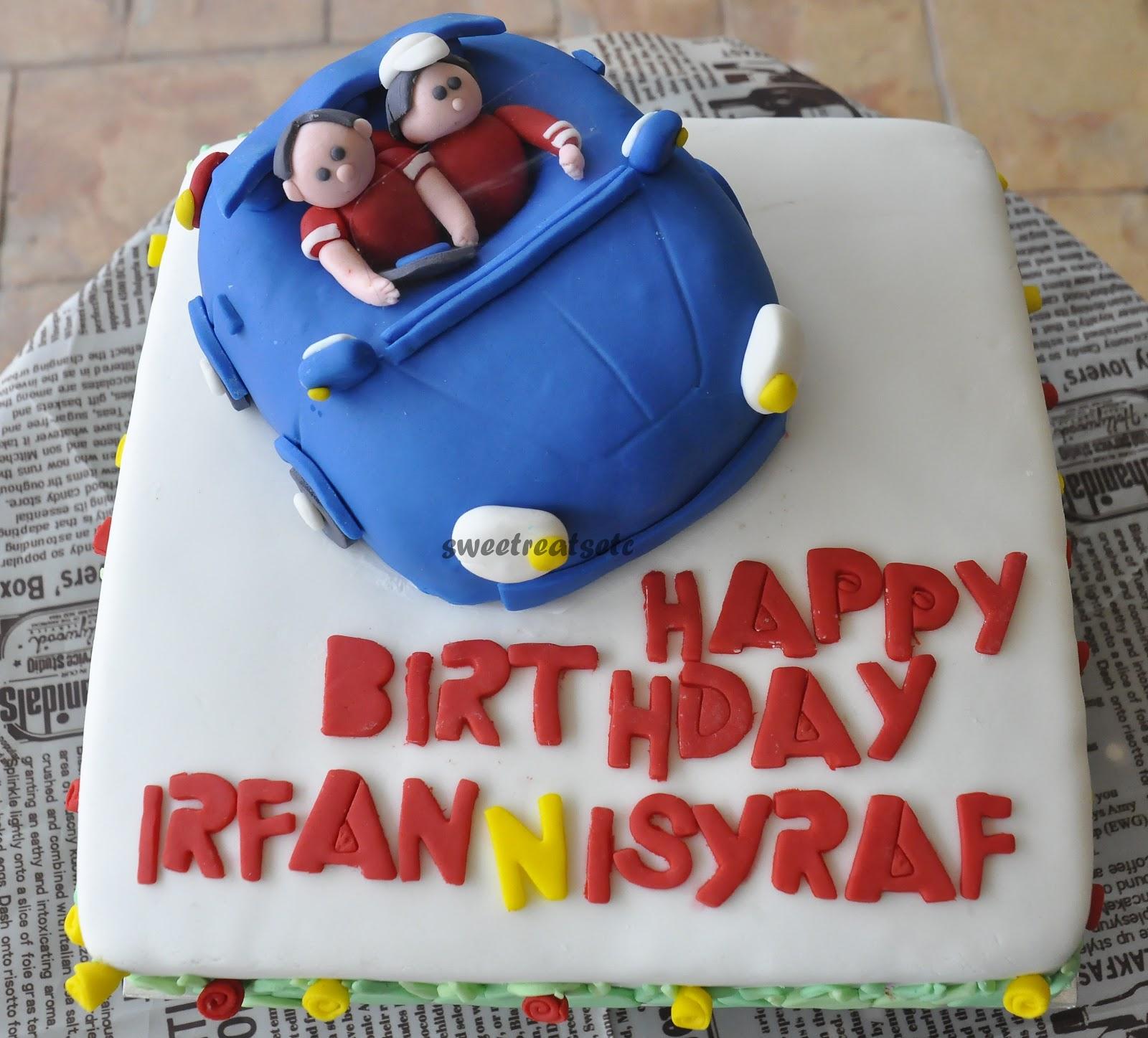 Birthday Cake With Name Irfan ~ Sweetreats etcetera sports car cake happy birthday isyraf irfan