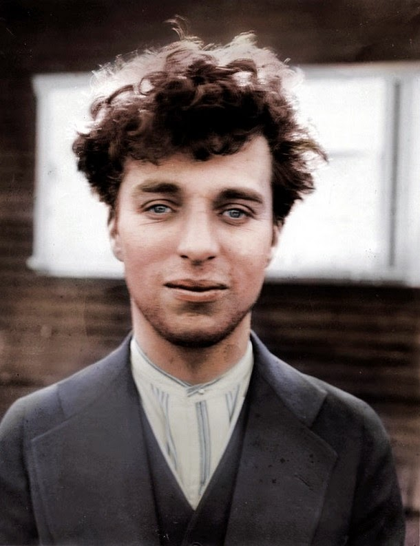 28 Realistically Colorized Historical Photos Make the Past Seem Incredibly Alive - Charlie Chaplin, 1916