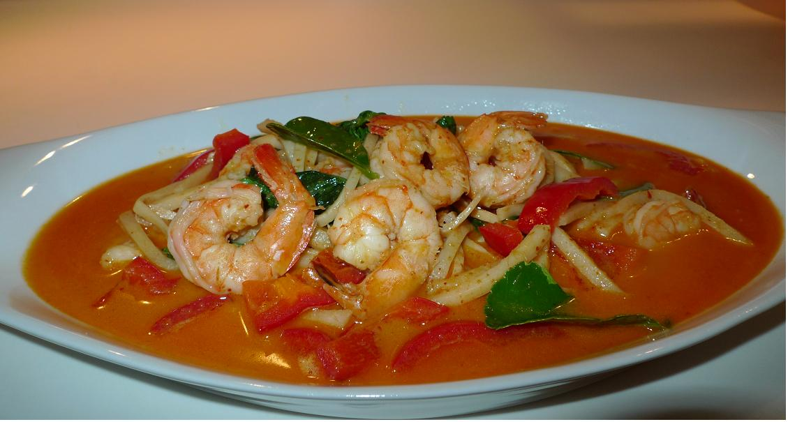 Thai Red Curry With Shrimp And Tofu Recipe — Dishmaps